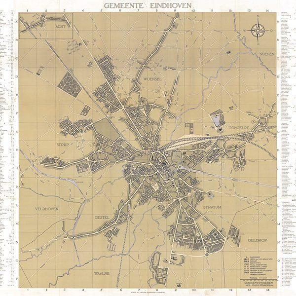 Plattegrond Eindhoven 1941 koker